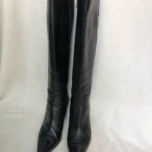 Via Spiga Knee High Black Leather Boots